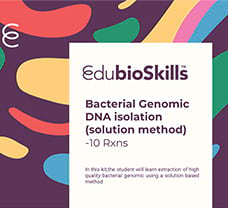 Bacterial Genomic DNA isolation(solution method) Teaching kit