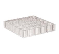 Vial-Rack, Acrylic (160 x 160 x 30mm), 25 cavities, diameter- 24mm